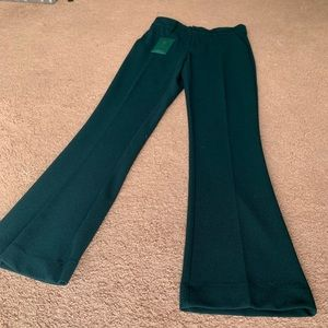 NWT Woman In Berwich Made In Italy darkGreen Pants
